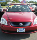 kia optima 2008 red sedan gasoline 4 cylinders front wheel drive automatic 13502