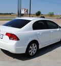 honda civic 2008 white sedan gasoline 4 cylinders front wheel drive automatic 76087