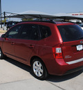 kia rondo 2008 red wagon lx gasoline 6 cylinders front wheel drive automatic 76087