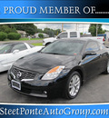 nissan altima 2009 black coupe gasoline 6 cylinders front wheel drive standard 13350