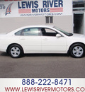 chevrolet impala 2006 white sedan flex fuel 6 cylinders front wheel drive automatic 98674