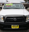 toyota tacoma 2008 white gasoline 4 cylinders 2 wheel drive 5 speed manual 93955