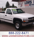 chevrolet silverado 2500 2000 white pickup truck gasoline v8 4 wheel drive automatic 98674