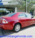 ford fusion 2008 redfire sedan i4 gasoline 4 cylinders front wheel drive automatic 80910