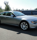bmw 6 series 2006 gray coupe 650i gasoline 8 cylinders rear wheel drive automatic 98226