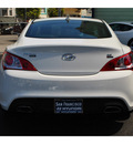 hyundai genesis 2012 white coupe 3 8 r spec gasoline 6 cylinders rear wheel drive 6 speed manual 94010