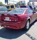 ford mustang 2003 red coupe gasoline 6 cylinders rear wheel drive 97216