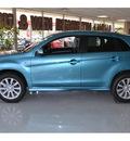 mitsubishi outlander sport 2011 lt  blue se gasoline 4 cylinders front wheel drive automatic 76903