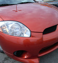mitsubishi eclipse 2008 orange hatchback gasoline 4 cylinders front wheel drive automatic 46219