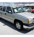 chevrolet silverado 1500 2004 silver pickup truck ls gasoline 8 cylinders rear wheel drive automatic 33870