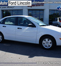 ford focus 2007 white sedan se gasoline 4 cylinders front wheel drive automatic with overdrive 46168