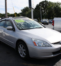 honda accord 2003 satin silver sedan ex v 6 gasoline 6 cylinders sohc front wheel drive automatic 07730