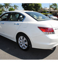 honda accord 2009 white sedan ex l v6 gasoline 6 cylinders front wheel drive automatic 91761