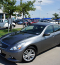 infiniti g37 sedan 2010 gray sedan gasoline 6 cylinders rear wheel drive automatic 76205