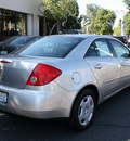 pontiac g6 2008 silver sedan value leader gasoline 4 cylinders front wheel drive automatic with overdrive 08902