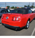 ford mustang 2011 red v6 premium gasoline 6 cylinders rear wheel drive automatic with overdrive 08902