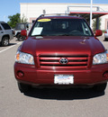 toyota highlander 2007 burgundy suv gasoline 6 cylinders all whee drive automatic with overdrive 80126