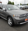 dodge durango 2011 dk  gray suv citadel gasoline 6 cylinders all whee drive 5 speed automatic 99212