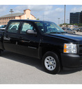 chevrolet silverado 1500 2011 black work truck flex fuel 8 cylinders 2 wheel drive 4 spd auto,elec cntlled 77090