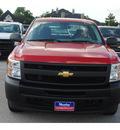 chevrolet silverado 1500 2011 red work truck flex fuel 8 cylinders 2 wheel drive 4 spd auto,elec cntlled 77090