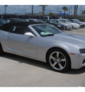 chevrolet camaro convertible 2011 silver lt gasoline 6 cylinders rear wheel drive 6 spd auto 77090