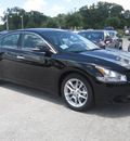 nissan maxima 2011 black sedan sv gasoline 6 cylinders front wheel drive automatic 33884