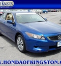 honda accord 2009 blue coupe ex gasoline 4 cylinders front wheel drive automatic 12401