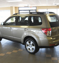 subaru forester 2009 gold suv 2 5 x gasoline 4 cylinders all whee drive autostick 55811