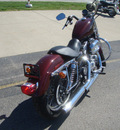 harley davidson xl 883l sportster 2008 red 2 cylinders 5 speed 45342