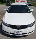 kia forte 2010 white sedan ex gasoline 4 cylinders front wheel drive automatic 76205