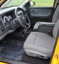 dodge dakota 2008 yellow slt gasoline 6 cylinders 4 wheel drive 4 speed automatic 44024