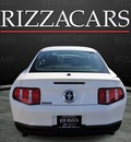 ford mustang 2011 white coupe premium gasoline 6 cylinders rear wheel drive automatic with overdrive 60546
