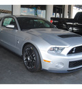 ford shelby gt500 2012 silver coupe premium gasoline 8 cylinders rear wheel drive 6 speed manual 77388