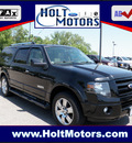 ford expedition el 2007 black suv limited el 4wd gasoline 8 cylinders 4 wheel drive automatic with overdrive 55321