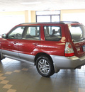 subaru forester 2008 dk  red suv 2 5 x ll bean gasoline 4 cylinders all whee drive automatic 55811