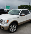 ford f 150 2011 white lariat flex fuel 8 cylinders 2 wheel drive automatic 76205