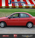 kia rio 2005 red sedan gasoline 4 cylinders front wheel drive not specified 44024
