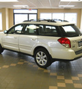 subaru outback 2008 white wagon 2 5i limited gasoline 4 cylinders all whee drive autostick 55811