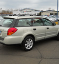 subaru outback 2006 beige wagon gasoline 4 cylinders all whee drive autostick 55811