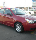 ford focus 2009 red sedan se gasoline 4 cylinders front wheel drive automatic with overdrive 13212