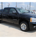 chevrolet silverado 1500 2011 black pickup truck lt flex fuel 8 cylinders 2 wheel drive 4 spd auto,elec cntlled 77090