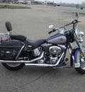 harley davidson flstc 2007 blue heritage softail cl 2 cylinders 5 speed 45342