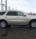 dodge durango 2011 white gold suv gasoline 6 cylinders all whee drive automatic 45840