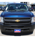 chevrolet silverado 1500 2011 dk  blue work truck flex fuel 8 cylinders 2 wheel drive automatic 77090