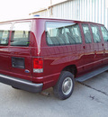 ford econoline e350 2003 maroon van super duty gasoline 8 cylinders sohc rear wheel drive automatic with overdrive 13212