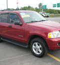 ford explorer 2004 red suv xlt flex fuel 6 cylinders 4 wheel drive automatic 13502
