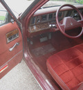chrysler le baron 1987 maroon sedan gasoline 4 cylinders front wheel drive automatic 55016