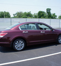 honda accord 2011 red sedan ex l v6 gasoline 6 cylinders front wheel drive 5 speed automatic 47129