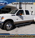 ford f 350 super duty 2011 white lariat biodiesel 8 cylinders 4 wheel drive automatic with overdrive 32401