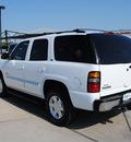 gmc yukon 2005 white suv slt gasoline 8 cylinders rear wheel drive automatic 76087